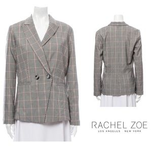Rachel Zoe Plaid Double Breasted Blazer | L